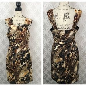 Connected Apparel Abstract Printed Dress NWT